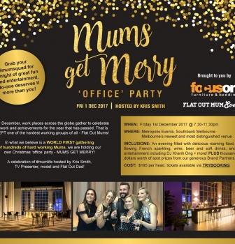 WORLD FIRST – MUMS GET MERRY CHRISTMAS PARTY