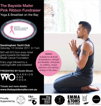 PINK RIBBON FUNDRAISER – Yoga & Breakfast On The Bay with Warrior One Yoga