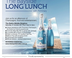 THE BAYSIDE LONG LUNCH WITH POMMERY – SATURDAY, 21 OCTOBER 2017
